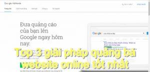 Top 3 giải pháp quảng bá website online tốt nhất dành cho bạn