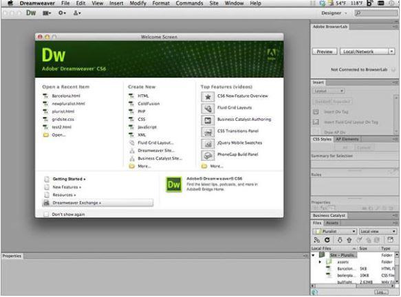 Dreamweaver CS6.