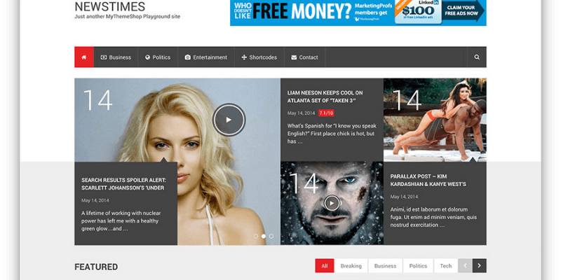 template website tin tức free